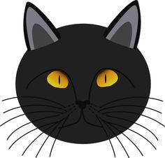 Cat Face Clip Art | more cats black cat face a public domain png image