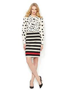 New Koto Jersey Stripe Skirt by Diane von Furstenberg on Gilt.com