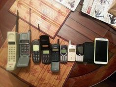 Nostalgia fans have been sharing images of their much-loved retro gadgets online, but most of them will be unrecognisable to today's smart phone users, including the pager and Pam Pilot. Smartphone, Tablet, Do You Remember, Time Capsule, Office Phone, The Good Old Days, Retro, Landline Phone, Childhood Memories