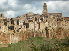 Pitigliano: a Stunnning Medieval Hill Town in Tuscany. Old Jewish settlement.