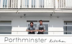 Porthminster Kitchen - a new dining destination with stunning views over St Ives harbour, from the team behind Porthminster Beach Café Places In Cornwall, Cornwall Coast, Holidays In Cornwall, Beach Cafe, St Ives, Travel Guides, Britain, Restaurants, Kitchen