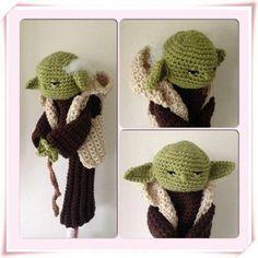 Yoda hand crocheted golf club cover by Plumalicious on Etsy Golf Club Covers, Golf Head Covers, Golf Club Sets, Golf Clubs, Crochet Home, Hand Crochet, Crochet Stars, Crochet Amigurumi Free Patterns, Crochet Designs