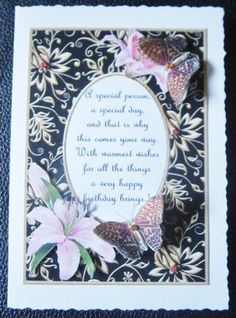 Card Gallery - Birthday Butterflies With Poem 2  Card made by Davina Rundle