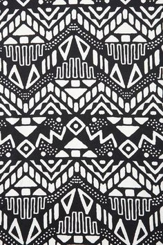 Black and white monochromatic tribal aztec pattern | followpics.co