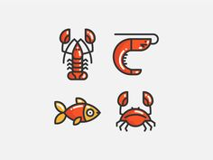 Seafood by Sergey Ershov #Design Popular #Dribbble #shots
