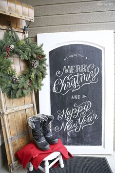 Rustic Red and White Vintage Christmas Home Tour 2015 | Ella Claire