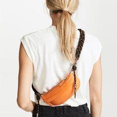 1e16d0d9129c Blue PU Leather Belt Bag Cute Fanny Pack with Braided Shoulder Strap