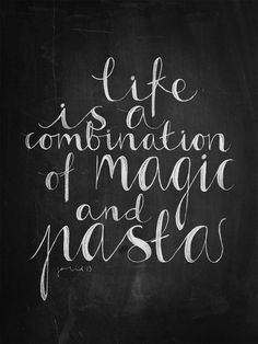 magic and pasta