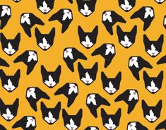 """Check out new work on my @Behance portfolio: """"Cats"""" http://be.net/gallery/60589451/Cats  #cats #tattoo #ladycat #illustration #design #pattern #catslover"""