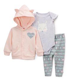 Gray Fox Bodysuit & Geometric Leggings - Infant