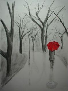 Draw Pattern - Design to draw - Draw Pattern - Bildergebnis für easy pencil drawings. Draw P. Easy Pencil Drawings, Art Drawings Sketches, Cool Drawings, Pencil Sketching, Drawing With Pencil, Beautiful Pencil Drawings, Pretty Drawings, Umbrella Painting, Umbrella Art