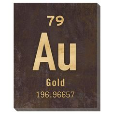 I pinned this Gold Wall Art from the Canvas Collectibles event at Joss and Main from periodic table of elements