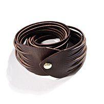 linea pelle™ double-wrap sliced leather bracelet $65.00