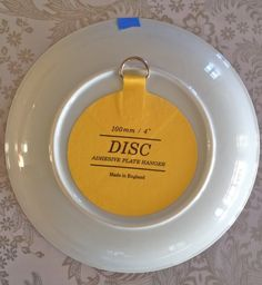 Invisible disk plate hangers - a secure and easy way to display plates on a wall!