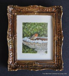 """""""The Robin"""" - An Original Watercolour Painting by Cindy Lotter"""