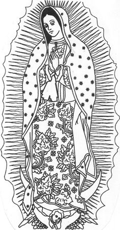 virgen de guadalupe coloring page - Google Search