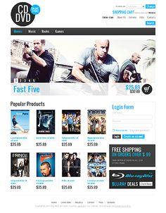 DVD Movies VirtueMart Templates by Mercury Website Template, Mercury, Entertainment, Templates, Store, Books, Movies, Role Models, Livros