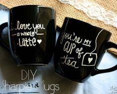 DIY Sharpie Mugs | DIY Valentine Gifts for Boyfriend