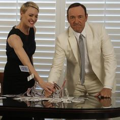Kevin Spacey — Kevin Spacey and Robin Wright photographed by Kirk...