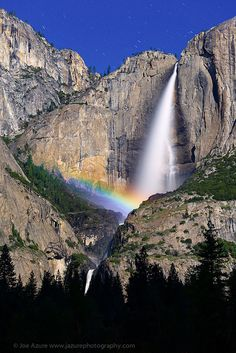 Lunar Rainbow at Upper Yosemite Fall