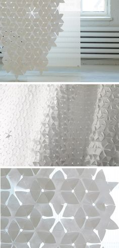 Technical fabric #curtain FLAKE - @woodnotesdesign