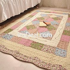 Buy Rustic Area Carptes Cotton Flower Floor Runner Rug Perfect Geometric  Pattern Bedroom Rug Washable Non