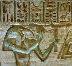 Tot, el escriba de los dioses, representado con cabeza de ibis