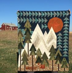 modern quilting designs Beautiful Imagine Art Print Mountain Wander Camping On Sunshine Pretty Gift For Camping Lover Quilt Quilt Baby, Boy Quilts, Cute Quilts, Modern Quilting Designs, Quilt Designs, Quilt Design Wall, Landscape Art Quilts, Landscapes, Quilt Modernen