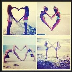 poses with friends heart and infinity shape