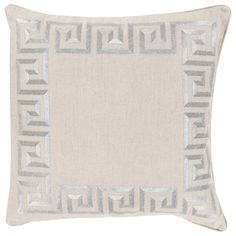Beth Lacefield by Surya Key Gray and Cream Decorative Pillow @LaylaGrayce