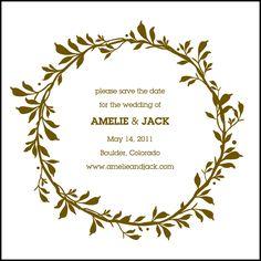 Simple modern wedding elegance sings sweet with Amelie, a letterpress invitation design from Ellie Snow.