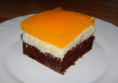 Mirinda szelet Hungarian Cake, Hungarian Recipes, Just Eat It, Cheesecake, Goodies, Food And Drink, Cooking Recipes, Pudding, Yummy Food