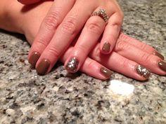 Fifty shades glitter nails