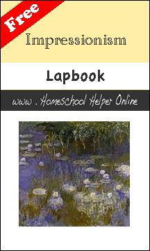 """How to Fold a Lapbook Related Pages: Artist NotebookingPage Artist's Palette Notebooking Page Artist Biography Notebooking Pages Claude Monet's """"River Scene"""" Notebooking Page Édouard Manet's """"The Railroad"""" NotebookingPage Renoir's """"Girls at the Piano"""" Notebooking Page"""