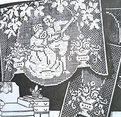"2246 Vintage LW Filet ""SERENADE"" Chair Set Pattern to Crochet (Reproduction) in Crafts, Needlecrafts & Yarn, Crocheting & Knitting | eBay"
