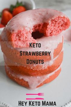 Keto Strawberry Donuts - Diet Healthy Recipe