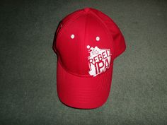 Men's Red & White SAMUEL ADAMS REBEL IPA Logo Hat, Snap Strap, Good Shape! #SAMUELADAMS #BaseballCap
