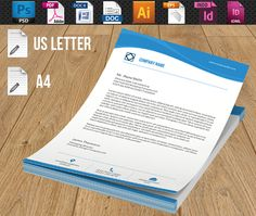 Company Letterhead-V02 by Template Shop on @creativemarket
