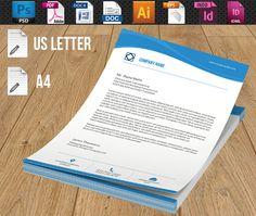 Company Letterhead-V02 by Template Shop on @creativemarket