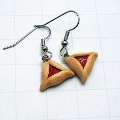 Hamantaschen Dangle Earrings by SweetStella on Etsy, $20.00 - great for Purim! - Sweet Stella Designs