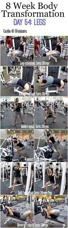 8 Week Body Transformation: Day 54 LEGS