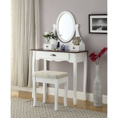 Shop For Interhy Wooden Vanity, Make Up Table And Stool Set. Get Free  Delivery · Online Furniture StoresMake ...
