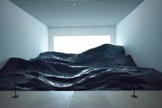 """Japanese artist collective 目 (Mé) are the creatives behind this stunning ocean wave installation at the Mori Art Museum in Tokyo, titled """"Contact. Museum Exhibition, Art Museum, Importance Of Art, Tokyo Museum, Instalation Art, Minimalist Artwork, Journal Du Design, Dappled Light, Reading Art"""