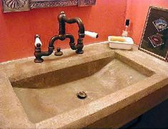 Natural, Rectangle Concrete Sinks BDC LTD. Longview, TX
