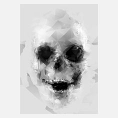 Geo Skull Diamonds Print byThree Of The Possessed