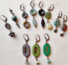 Sweet Czech bead earrings