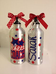 Personalized aluminum water bottle LOTS of colors by DeLaDesign, $12.00