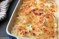 Enjoy a savory side dish, even if you're on a low-carb diet. This turnips au gratin recipe has only a fraction of the carbs than potatoes!