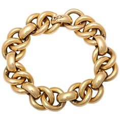 Double Link Cable Bracelet | From a unique collection of vintage link bracelets at https://www.1stdibs.com/jewelry/bracelets/link-bracelets/