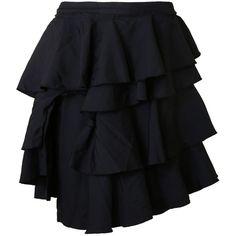 Comme des Garçons Skirts (7 215 ZAR) ❤ liked on Polyvore featuring skirts, black, comme des garcons skirt and comme des garçons